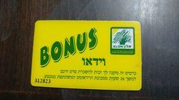 Israel-alon Bonus Vidio Number Card 312823-(18)-used - Projecteurs De Films