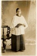 Photo Ancien / Misdienaar / Choir Boy / Frederick Donald P. Bocks (?) / 1915 - Personnes Anonymes