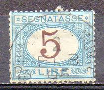 ITALIE (Royaume) - 1870-1903 - TAXE - N° 16 - 5 L. Bleu Et Brun - 1900-44 Vittorio Emanuele III