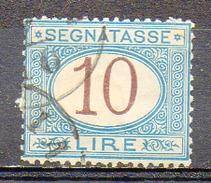 ITALIE (Royaume) - 1870-1903 - TAXE - N° 18 - 10 L. Bleu Et Brun - 1900-44 Vittorio Emanuele III