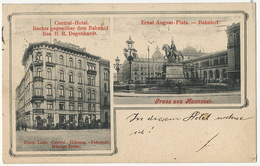 Gruss Aus Hannover Central Hotel H.R. Degenhardt  Bahnhof - Hannover