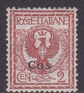 Italy-Colonies And Territories-Aegean-Coo S 1  1912  2c Orange Brown MH - Aegean (Coo)