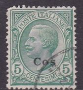 Italy-Colonies And Territories-Aegean-Coo S 2  1912 5c Green Used - Aegean (Coo)
