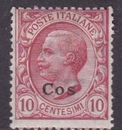 Italy-Colonies And Territories-Aegean-Coo S 3  1912 10 Claret MH - Aegean (Coo)
