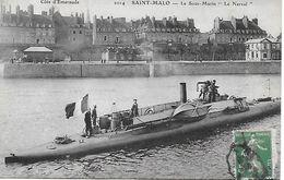 SAINT MALO LE SOUS MARIN LE NARVAL CARTE POSTEE EN 1909 - Saint Malo