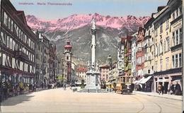 Innsbruck - Maria Theresienstrasse, Tramway - Wilhem Stempfle - Carte Colorisée N° 88 Non Circulée - Innsbruck