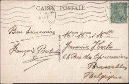 YT 414 Mercure 45ct Vert Seul Sur Carte Rare Tarif Pour La Belgique 5 Mots Pour étranger - 1938-42 Mercurio