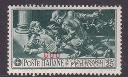 Italy-Colonies And Territories-Aegean-Coo S 13  1930 Ferrucci 25c Green MH - Aegean (Coo)