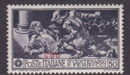 Italy-Colonies And Territories-Aegean-Coo S 14  1930 Ferrucci 50c Black MH - Aegean (Coo)