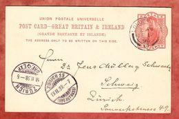 P 26 Koenigin Viktoria, London Nach Zuerich, AK-Stempel 1898 (40322) - Briefe U. Dokumente