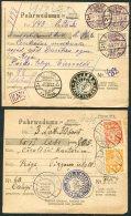 1920s X 8 Latvia Pahrwedums. Pjjene, Varaklani, Ludze, Pokrova, Smiltene, Zilupe, Riga + - Latvia