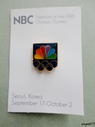 Pin's J.O. SEOUL 1988 -   NBC  ( National Broadcasting Company ) - Olympic Games