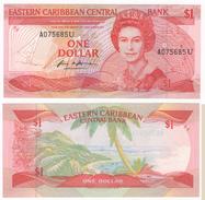 Eastern Caribbean Central Bank, 1 Dollar. Crispy Parer. UNC!!! - Ostkaribik