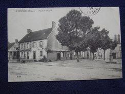 """CREUSE - * SOUMANS...Place De L'Église.* Cachet (militaire?)  """"91°T """" ,1915 - - Other Municipalities"""
