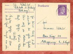 P 299 Hitler, Schlatt Nach Hamburg 1942 (40337) - Stamped Stationery