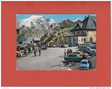 PASSO DELLO STELVIO 1959 HOTEL STILFSERJOCH CON NUMEROSE AUTO E MOTO D´EPOCA ANIMATA COLORITA A MANO - Bolzano (Bozen)