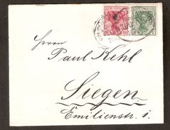 ALEMANIA IMPERIO. 1916. BAHNPOST, ZUG 616. OBERHAUSEN-SIEGEN. - Deutschland