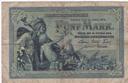 ALLEMAGNE BILLET DE 5 MARK 1904  ALPHABET / Z - 50 Mark