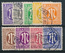 Bizone Nr. 1-9 Gestempelt ~ Michel 11,-- Euro - Bizone