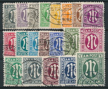 Bizone Nr. 16-35 Gestempelt ~ Michel 1000,-- Euro - Bizone