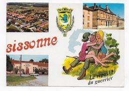 SISSONNE - LE CAMP - LE FOYER DU SOLDAT - REPOS DU GUERRIER - CPSM GF NON  VOYAGEE - Sissonne