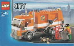 Lego 7991 Ville Le Camion De Poubelle Avec Plan 100 % Complet - Lego System