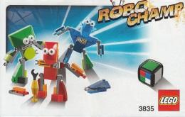 Lego 3835 Jeu De Société Robo Champ Avec Plan Et Boîte 100 % Complet - Lego System