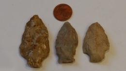 LITHIQUE MISSISSIPPI - Lot De Pointes De Flèches - Archéologie