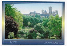 LAON - LA CATHEDRALE - CPM GF VOYAGEE - Laon