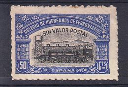 ESPAÑA 1945. COLEGIO DE HUERFANOS DE FERROVIARIOS. 50 CENTIMNOS. NUEVO SIN GOMA CECI 2.19 - Fiscales