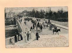 65 Tarbes.Le Pont Sur L'Adour. -trés Animée Attelages, Et Nombreuses Personnes   CPA Précurseur Année 1904 - Tarbes