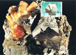 Espagne - Minerais D'Espagne : Pyrite CM 2878 - Cartes Maximum