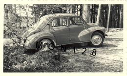 AUTOMOBILE RENAULT 4 CV - PHOTO ORIGINALE 7x11,5 Cms - Automobiles