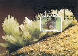 Espagne - Minéraux D'Espagne : Aragonite CM 2937 - Cartes Maximum