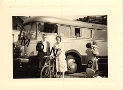 AUTOCAR COLONIE SAINT MICHEL ORCHIES (NORD) JUILLET 1957 - PHOTO ORIGINALE 10,5x8 Cms - Automobiles
