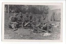 17215 - Armée Suisse 1938 Soldats La Cuisson Des Gamelles Ecole De Recrue Kloten - Casernes