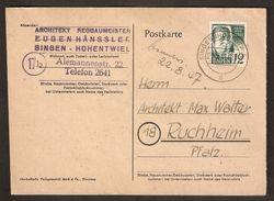 ALEMANIA IMPERIO. 1947. ENTERO POSTAL.SINGEN-RUCHHEIM - Interi Postali