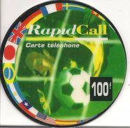 -CARTE PREPAYEE-RAPIDCALL-100F-28 /2/99-RONDE COUPE MONDE 1998-TBE- - Autres Prépayées