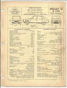 FICHE TECHNIQUE EXPERT - RENAULT 16 R1150 - Auto's