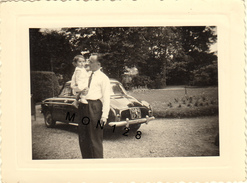 AUTOMOBILE RENAULT DAUPHINE  -  PHOTO ORIGINALE 1958 - 10,5x8 Cms - Automobili