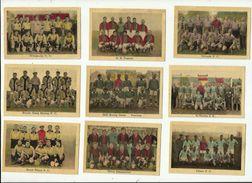 9 X  Chromo - = Diverse  Oude  Voetbalploegen - Trading Cards