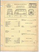 FICHE TECHNIQUE EXPERT - RENAULT ESTAFETTE R2132  R2133 - Cars