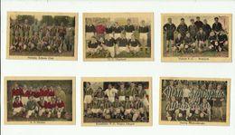 6 X  Chromo - = Diverse  Oude  Voetbalploegen - Trading Cards
