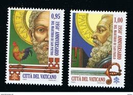2017 - VATICAN - VATICANO - VATIKAN - S15E1 - MNH SET OF 2 STAMPS ** - Vatican