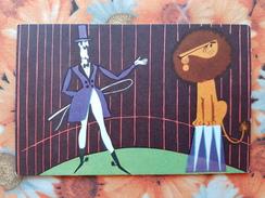 Funny Circus. Animal Trainer. Lion. Old  Postcard 1972 - Cirque
