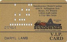 Sundowner Casino - Reno, NV - 7th Issue Slot Card - Sundowner-Casino.com Web Address - Casino Cards