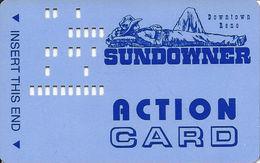 Sundowner Casino - Reno, NV - Action Card / Bus Card - Cameo Mark On Reverse - Casino Cards