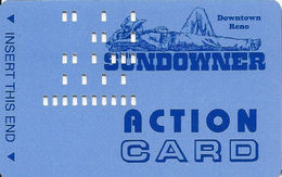 Sundowner Casino - Reno, NV - Action Card / Bus Card - PPC On Reverse - Casino Cards