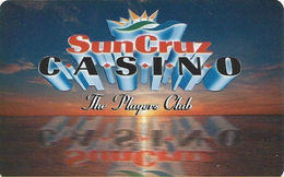 SunCruz - Casino Cruise Ship From Florida - Slot Card - Orange Sunset & No Mfg Mark (BLANK) - Casino Cards