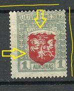 LITAUEN Lithuania 1919 + Error Variety MNH - Lithuania